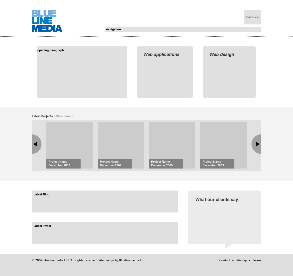 Using Wireframes For Web Design Article Bluelinemedia